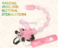sex wear - 7 speed Wearing on Butterfly Vaginal Glitoral Stimulation Vibrator Anal Beads Female Sex Toy