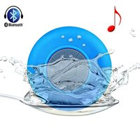 Wholesale Mini Portable Waterproof Bathroom Shower Wireless Bluetooth Speaker Handsfree Receive Call Music Suction Cup Built in Microphone Speakers
