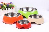 ceramic dog bowl - 2015 New Rushed Bowls Cups Pails Ceramic Scooter Parts Speed Skates Patinete Pet Supplies Bowl Dog Stainless Steel Round In Pair with