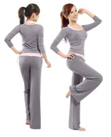 Wholesale Hot Brand New Women s Plus Size Modal Yoga Outfits Sets Solf Yoga Clothing Sets Gym Clothing Sport Suit Four Available Colors