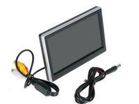 Mtv Box Entrée 2 voies vidéo 5 pouces TFT LCD 480 X 272 Définition couleur numérique Panneau arrière de voiture moniteur pour caméra de recul