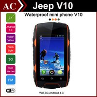512mb card - Rugged MINI V10 Waterproof WCDMA G Smart Phone quot Android MTK6572 Dual Core GHz Jeep Dustproof Shockproof Cellphone Bluetooth WIFI