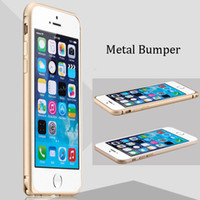 aluminium protective case - Ultra Thin Slim Hippocampal Buckle Metal Aluminium Frame Bumper Shockproof Protective Case For iPhone S inch