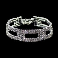 Wholesale Pulseiras Braceletes Gold Silver Full Rhinestone Bracelet for Women Widding Hot Sale Bracelet Charms