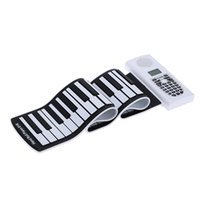 Wholesale Portable Thickening Keys Portable Hand Roll Up Piano Silicone Rubber Soft Keyboard Piano Electronic Keyboard with LCD Display