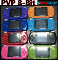 achat en gros de enfants jeux vidéo-Portable PVP POCKET 6 2,5 pouces Handheld Game Player pvp TV Out 8 bits joueurs de jeux vidéo pour Noël Cadeaux de Noël kid enfants cadeaux