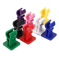 Cheap Newest 10Pcs Mini EGO Battery Holder Stand Base Sticker for EVOD C-TWIS Atmos Car Glass Desk Multi-colours