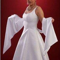 apricot scarf - 2016 Bridal Scarf Jacket Cape Chiffon Satin Custom Made Wedding Shawls For Brides White Black Evening Bolero Shrug