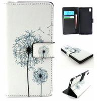 aqua patterns - Dandelions Pattern Pu Leather Flip Magnet Wallet Stand Cover Case For Sony Xperia M4 Aqua Dual E2303 E2333 E2353