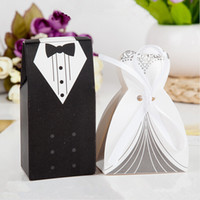 Cheap LJJG40 5000pcs NEW Wedding Favor boxes Creative gift boxes Bride and Groom box Wedding decoration Candy Boxes