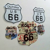 america wall painting - America No route Decorative art painting modern brief mural paintings Aluminum wall poster set set