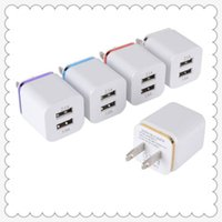 Wholesale Universal A US Dual USB AC Power Adapter Wall Charger Plug port for IPAD mini air Ipod iphone s s v MQ200