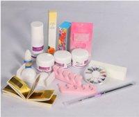 art model kits - Pro Acrylic Powder Liquid Primer Decoration Kits DIY Nail Tools Art Set Kit w Brush Sanding File D Model