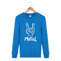 autumn metal band - Fashion Hip Hop Cool METAL rock and roll Rock Band Spring Autumn Ourdoor Casual Crewneck Pullover Streetwear Sweatshirt Men