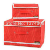 Wholesale NEW Clothes Storage Box Tuba Trumpet RED Women Fashion Quilts Covered Underwear Storage Box Ms Cosmetic Boxs