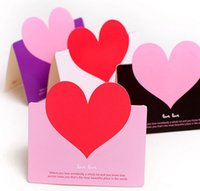 Wholesale color x8 cm High Quality Love Heart Wedding Party Table Name Place Cards Favor Decor Love Gifts