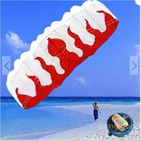 kites - Hot selling M Dual Line Stunt Parafoil Parachute Flame Outdoor Sports Beach Line Board Flying Kite in a bag