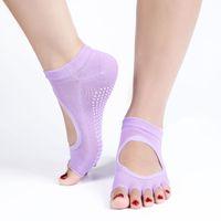 Wholesale Men and Women Five Fingers Antiskid Backless Five Toe Socks Yoga Sports Socks Fitness Professional Yoga Socks