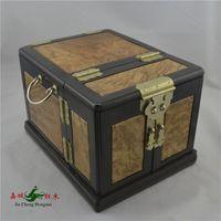 Wholesale Kerry Redwood City ebony inlay gold camphor grass pear four beautiful jewelry box jewelry box mirror box officer suitcase