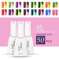 color gel nail polish - Azure Lastest Temperature Changing gel Nail Art Gel Color Change Nail Art Soak Off Color UV Gel Polish colors UV gel polish