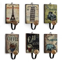 Wholesale Vintage Decorative Wall Hooks Styles Painted Wall Hanger European Clothes Hook for Coffee Bar Decoration