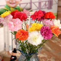 artificial carnations - 8color carnation silk flower artificial flowers Scrapbooking fake for Home Decorative wedding Decorations freeshipping FZH003