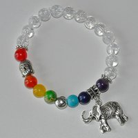 balance bracelet wrists - SN0218 chakra buddha bracelet lotus meditaton lucky elephant fortune yapa mala wrist yoga balance healing crystal