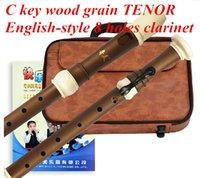 Wholesale Chinese Diz C key flute musical instrument TENOR English style holes clarinet