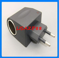 Wholesale EU Car charger socket V to V car power adapter AC DC Household cigarette lighter power adapter