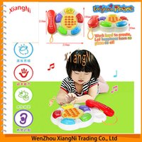 Wholesale NEW Baby Toys Phone Child Music Phone Ring Phone Learning Educational Electronic Toys Talking Story Music Toy Kid Song Toy order lt no