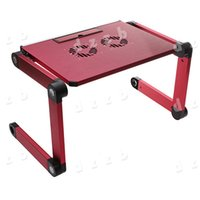 Wholesale Portable Degree Foldable Folding Adjustable Notebook Laptop Table Stand Desk Cooling Fan