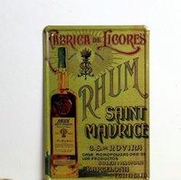 advertising metal signs - Rhum Saint Maurice metal poster advertising sign beer Tin Signs Decor Home Club Bar x30cm Be03