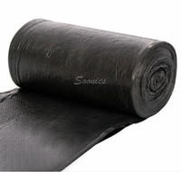 Wholesale 50 roll x CM Clean up Refuse Black Plastic Garbage Rubbish Waste Trash Bags Rolls Drop Shipping