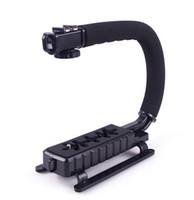 Wholesale New DSLR Camera Grip Video Flashlight Camcorder Action Stabilizing Handle Black