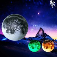 Wholesale Unbelievable Moon in my room with colorful Moonshine Very Beautiful and colorful LED light at Midnight High quality PVC ABS Material