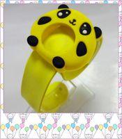 Wholesale Happy fashion Cute Cartoon Style Mix Order Children Kids Teens Silicone Wristwatch jelly little frog Children Slap Watch Gift