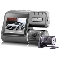 Wholesale New i1000 HD P Dual Lens Dashboard vehicle car DVR Camera Video Recorder DVR G sensor Black Box Dashboard Camera
