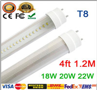 Wholesale Low Price Fedex T8 LED Tubes ft W W W lm Lights Lamps V SMD Led Fluorescent Bulbs Lighting mm M Feet