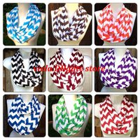 Scarves scarf material - cotton material Wave Chevron Infinity scarf women and Teens Circle Loop scarf you can pick color to mix