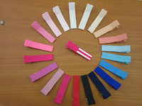 baby bobby - 40pcs quot Double Prong Ribbon Lined Alligator Hair Clip for baby girl Hair pins colors bobby pin baby headwear