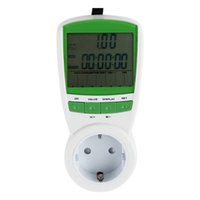 Wholesale EU US UK Plug Electric Energy Saving Power Meter Consumption Watt Volt Amp Frequency Monitor Analyzer V Hz