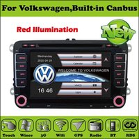 Wholesale 2 Din Inch Car DVD Player For VW Passat JATTA POLOGOLF Skoda Seat With Canbus G USB Host GPS P BT IPOD TV Radio WIFI Map