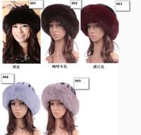 Wholesale Ms newest princess hat fur mink fur hat oversized fox fur hat section