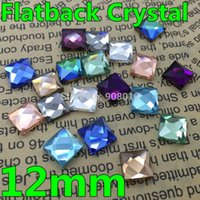 amethyst aquamarine jewelry - 100pcs mm Asmmetric Faceted Square Flat Back Crystal Stones Aquamarine Amethyst Sapphire Rainbow For Jewelry Phone Decoration