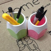 Wholesale Creative Pen Vase Pencil Pot Makeup Brush Holder Stationery Desk Tidy New Design Container Gift D0646