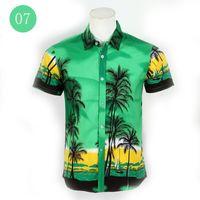 Wholesale 4XL Mens Hawaiian Shirt Beach Leisure Fashion Floral Tropical Seaside hawaii Shirts Brand New Casual Camisas Summer Holiday