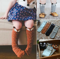 animal stock images - HOT Kids Lovely D Knee High Fox socks Baby Boy Girl Leg Warmers stocking suitable for Y Cotton Animal image
