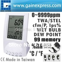 Wholesale Digital Carbon Dioxide Monitor Indoor Air Quality CO2 Meter Temperature RH Humidity TWA STEL points memory Taiwan Made