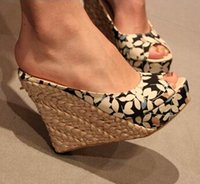 Wholesale new arrival summer single shoes open toe women sandals high heeled wedges shoes woman sandal size