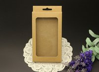 Wholesale Universal Phone Case Package Paper Kraft Brown Retail Packaging Box for iphone s s Samsung S4 S5 Note Cell phone